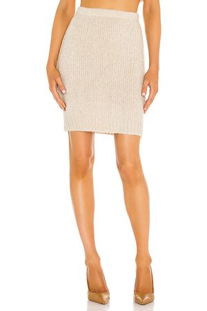 One Grey Day X REVOLVE Claudia Skirt in Beige.