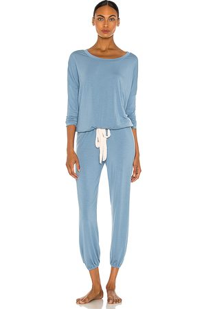 Eberjey Gisele Slouchy Set in Blue.