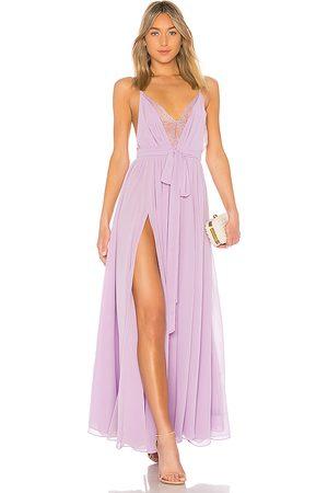 Michael Costello X REVOLVE Justin Gown in Lavender.