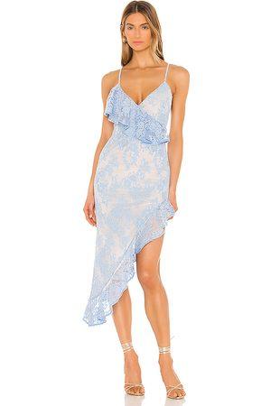 NBD Victoria Midi Dress in Baby Blue.