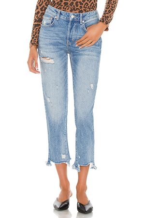 Free People Good Times Relaxed Jean in Blue.