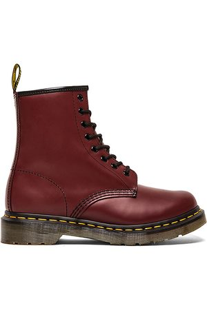 Dr. Martens Iconic 8 Eye Boot in Red.