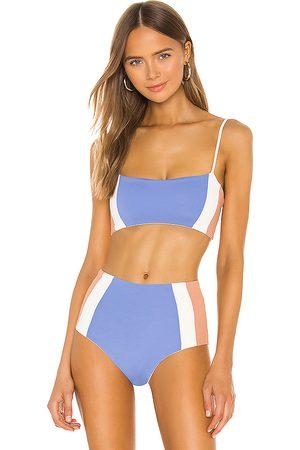 L*Space Rebel Heart Bikini Top in Blue.