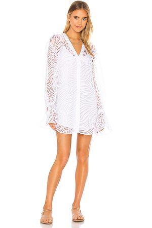 L'Academie The Macy Mini Dress in White.