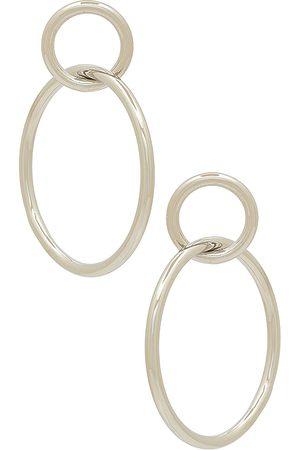 Shashi Double Circle Hoop in Metallic .
