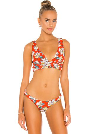 Eberjey Vivian Bikini Top in Orange.