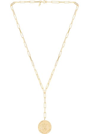 Gorjana Ana Coin Lariat Necklace in Metallic .