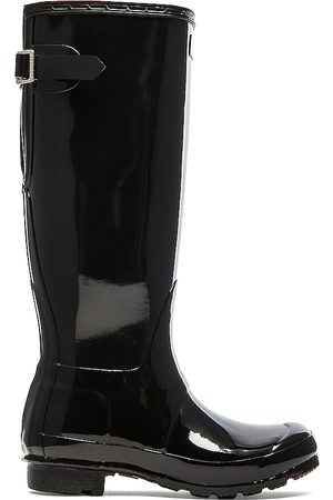 Hunter Original Back Adjustable Gloss Rain Boot in .