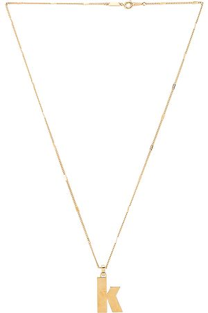 Jenny Modernist Monogram Pendant K in Metallic .