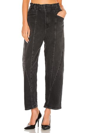 Free People Powell Boyfriend Pull On Jean in Black.