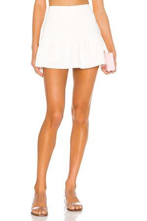 Amanda Uprichard Women Mini Skirts - Gabbie Skort in Ivory.