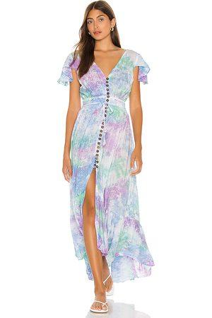 TIARE HAWAII New Moon Maxi Dress in Blue.