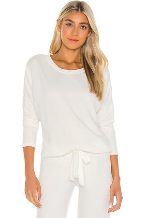 Eberjey Softest Sweats Top in White.