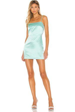 Michelle Mason X REVOLVE Crystal Mini Dress in Mint.