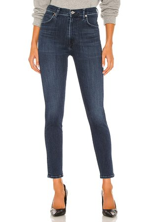 Citizens of Humanity Chrissy High Rise Skinny in Blue.