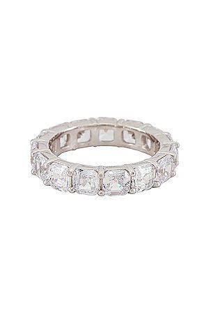 The M Jewelers Cushion Cut Eternity Band Ring in Metallic .