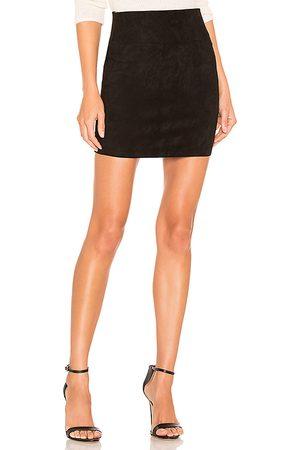 SPRWMN Suede Mini Skirt in .