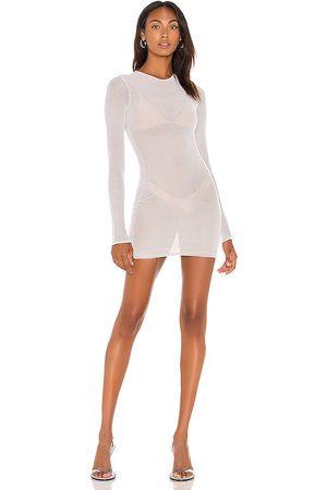 LAQUAN SMITH X REVOLVE Mesh Dress in White.