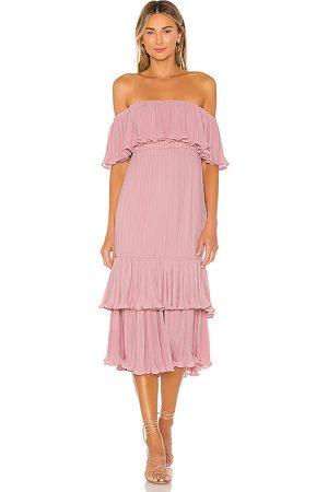Lovers + Friends Elouise Midi Dress in Rose.