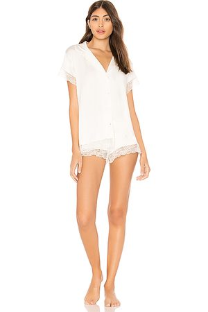 Eberjey Malou Lace PJ Set in White.