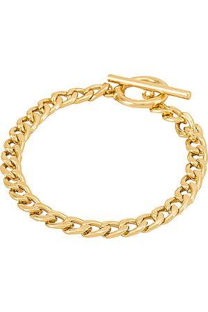 EIGHT by GJENMI JEWELRY Heavy Metal Bracelet in Metallic Gold.