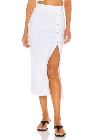 THE RANGE Women Midi Skirts - Wave Rib Button Up Midi Skirt in .