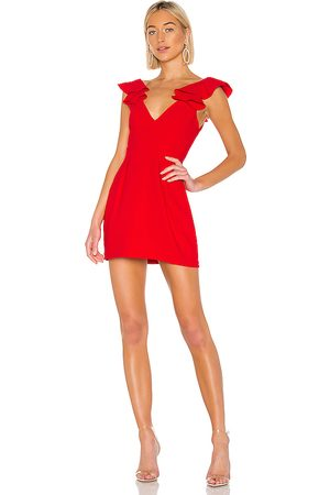Amanda Uprichard Gimlet Dress in Red.