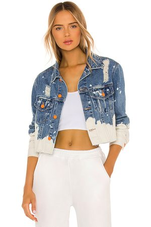 LA DETRESSE Acid Wash Crop Jacket in .