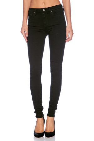 7 for all Mankind Women The High Waist Skinny in Black.