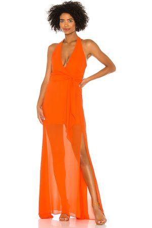 NBD Victoria Gown in Orange.