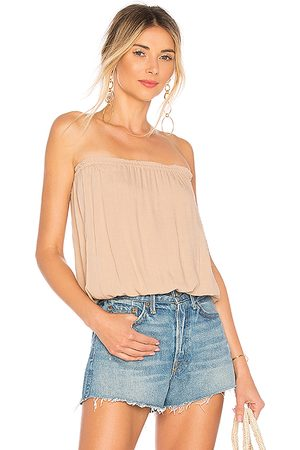 Indah Gemma Tube Top in Tan.