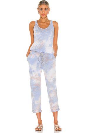 MICHAEL STARS X REVOLVE Tie Dye Jumpsuit in Baby Blue.