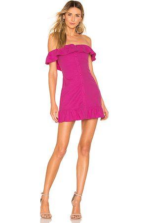 Lovers + Friends Elsie Mini Dress in Fuchsia.