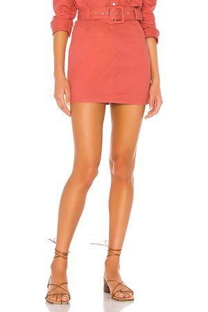 Song of Style Daphne Mini Skirt in Red.