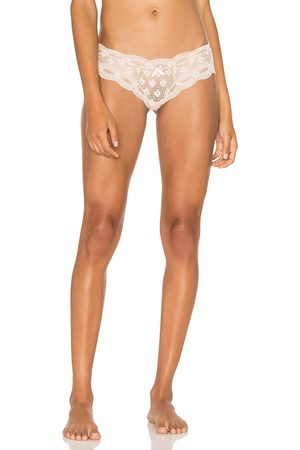 Eberjey India Lace Low Rise Thong in White.