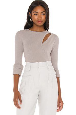 525 America Layered Cut Out Top in Grey.