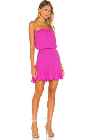 krisa Strapless Mini Dress in Fuchsia.