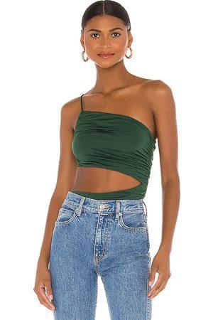 superdown Veronica Cut Out Bodysuit in Green.