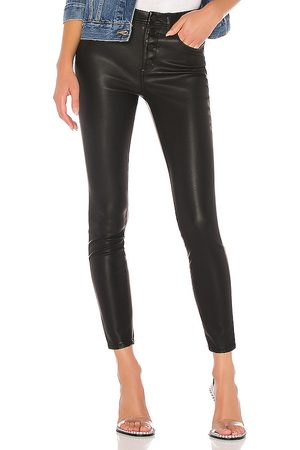 BLANK NYC Vegan Leather Pant in Black.