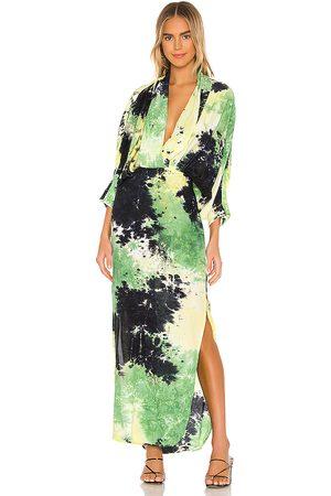 SWF Tie Dye Maxi Dress in Green.
