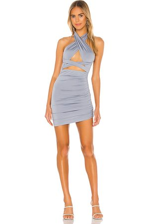 superdown Suzette Halter Mini Dress in Blue.