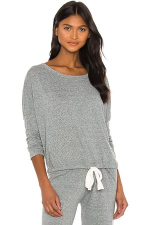 Eberjey Heather Slouchy Tee in Grey.