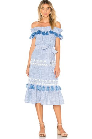 Tularosa Women Midi Dresses - Lana Dress in Blue.