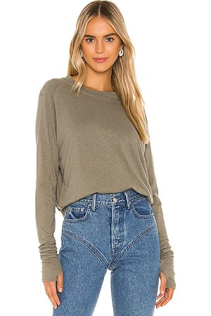 Free People Arden Tee in Olive.