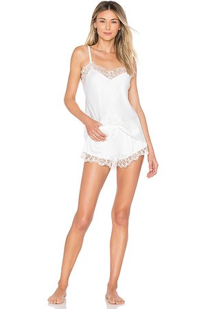 Flora Nikrooz Gabby Charmeuse Cami & Tap in White.
