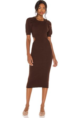 LPA Clementine Dress in Brown.