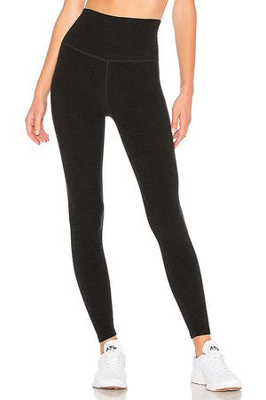 Beyond Yoga Spacedye High Waisted Midi Legging in Black.