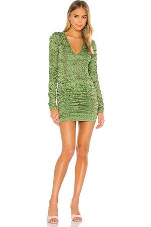Camila Coelho Solana Mini Dress in Green.