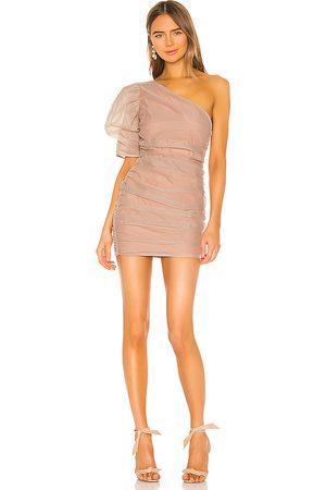 NBD Mariska Mini Dress in Beige.