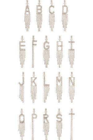 Retrofete Alphabet Earring in Metallic .